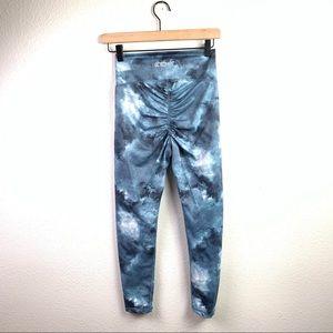 ECHT Coral Scrunch Leggings , turquoise tie dye